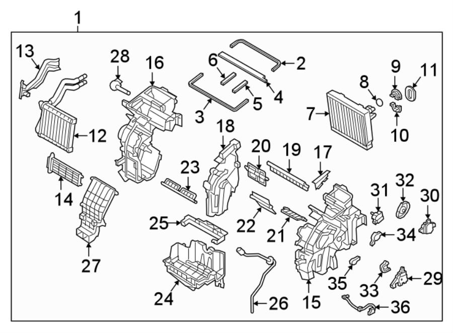 Kia Niro Heater. HVAC. Resistor. Blower Motor. Core