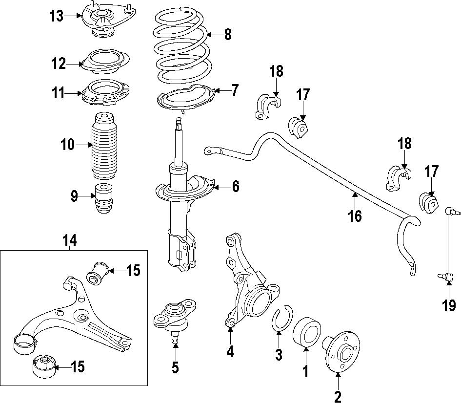 2012 Kia Wheel Bearing (Front). Trans, Speed, Right