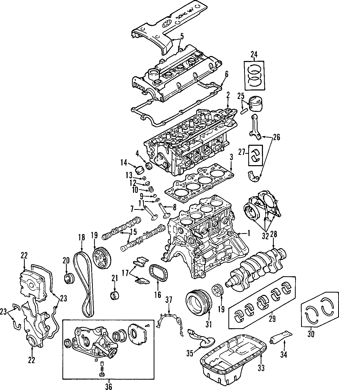 Kia Spectra5 Engine Gasket Set Gasket Kit