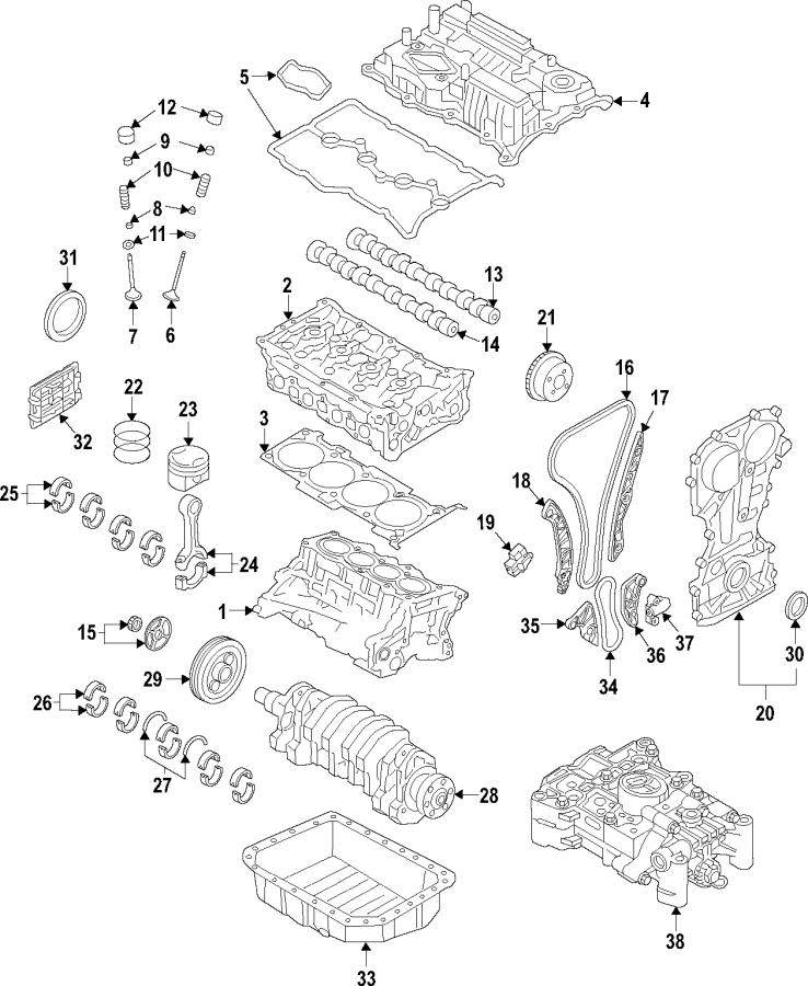 2015 Kia Sorento Engine Timing Chain Tensioner