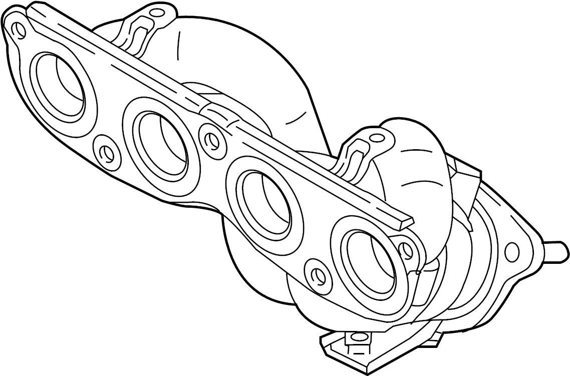 Kia Forte Catalytic Converter with Integrated Exhaust