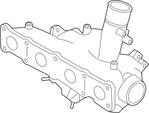 2011 Kia Sportage Exhaust Manifold TURBOCHARGER LITER, ENGINE, InclExhaust  282312G410
