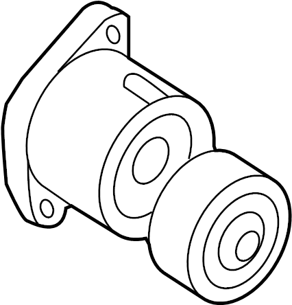 Kia Forte Koup Pulley. TENSIONER. Accessory. Drive. LITER