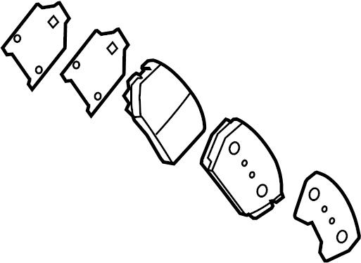 Kia Optima Disc Brake Pad Set (Front). Suspension, BUILD