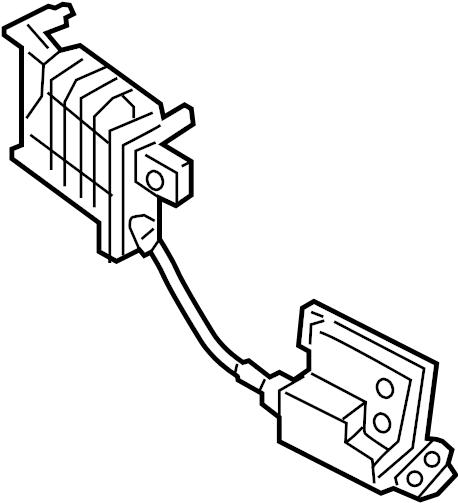2016 Kia Soul EV Latch. Lock. Gate. Actuator. LIFT, Santa