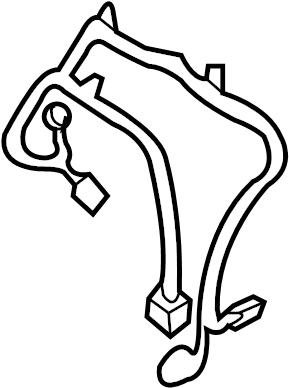 Kia Sedona Hvac system wiring harness. Front. Front, w/o