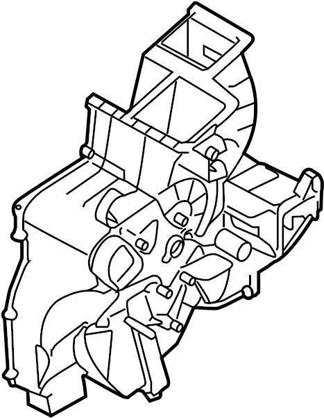 2016 Kia Case. Heater. Evaporator. W/o auto temp cntrl. W
