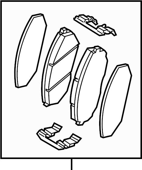 Kia Sorento Disc Brake Pad Set (Front). Pads, Kit