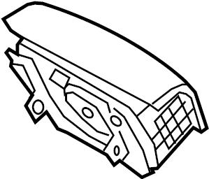 Kia Sorento Steering Wheel Air Bag. Inflator, Module
