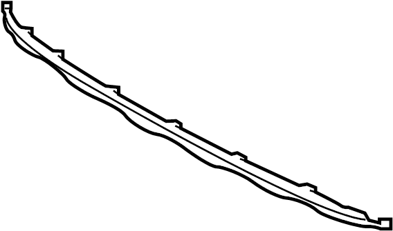 Kia Sorento Powertrain Skid Plate (Rear). 1 PC BUMPER