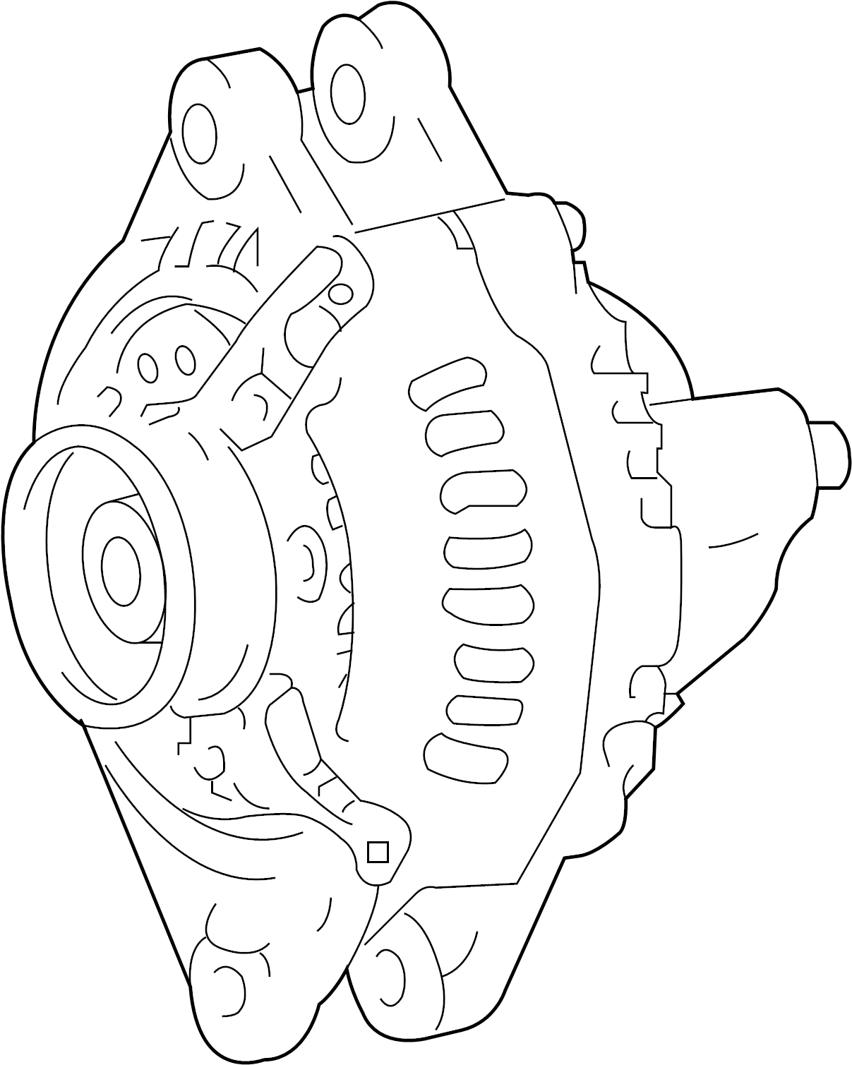 Kia Sorento Alternator. Generator assembly. 3.3 liter. 3.5