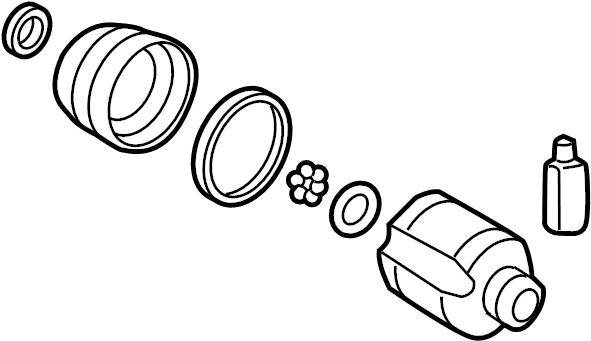 Kia Rio Cv joint kit (front). Trans, auto, axle