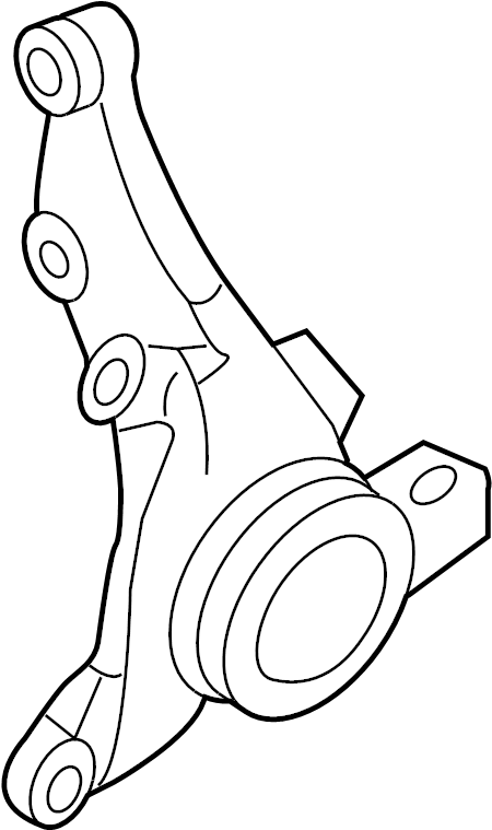 Kia Rondo Steering Knuckle (Right, Front). SUSPENSION, ABS