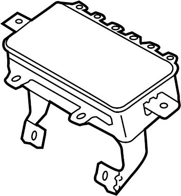 2012 Kia Optima Instrument Panel Air Bag. Inflator, Module
