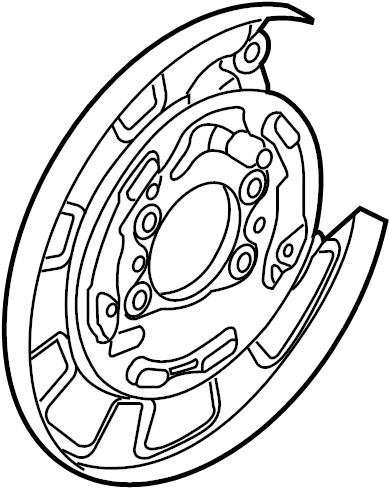 Kia Soul Parking Brake Backing Plate (Left, Rear). DISC