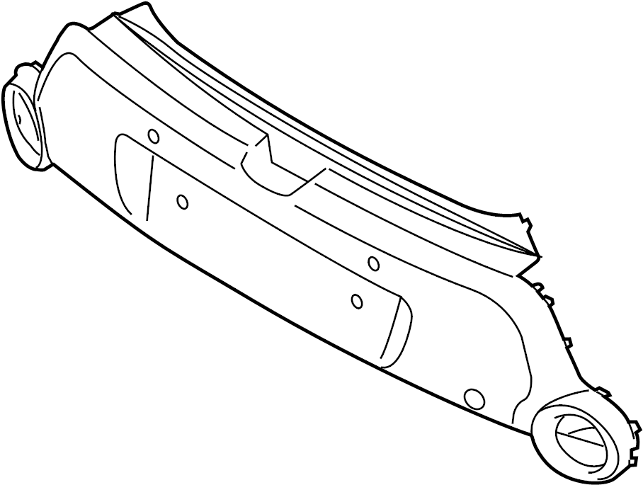 Kia Soul Bumper Cover (Rear, Upper, Lower). 2014-16, w/o
