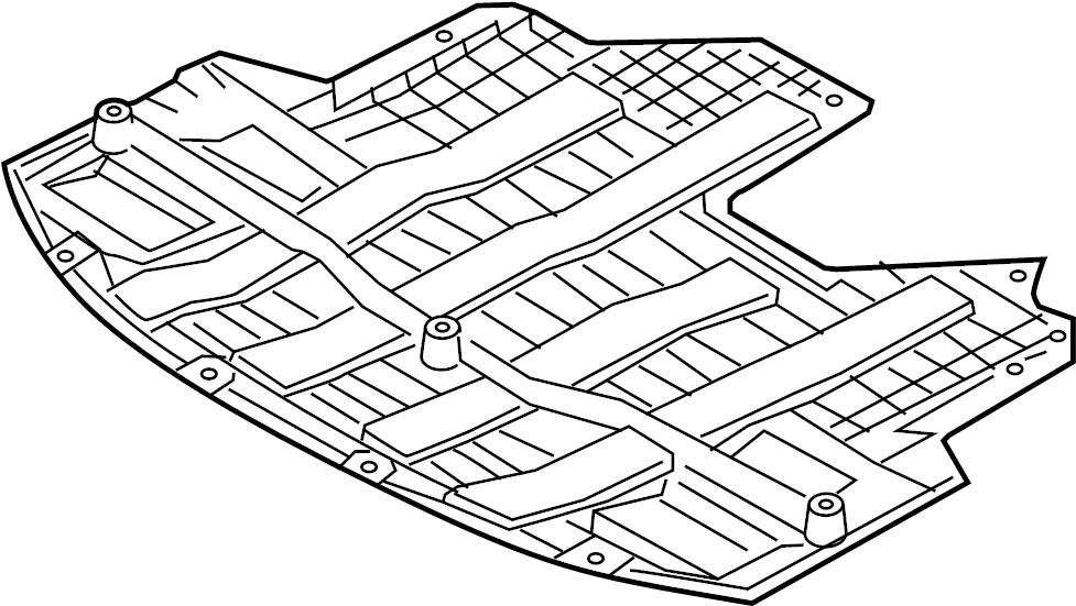 Kia Forte Radiator Support Splash Shield. Under cover