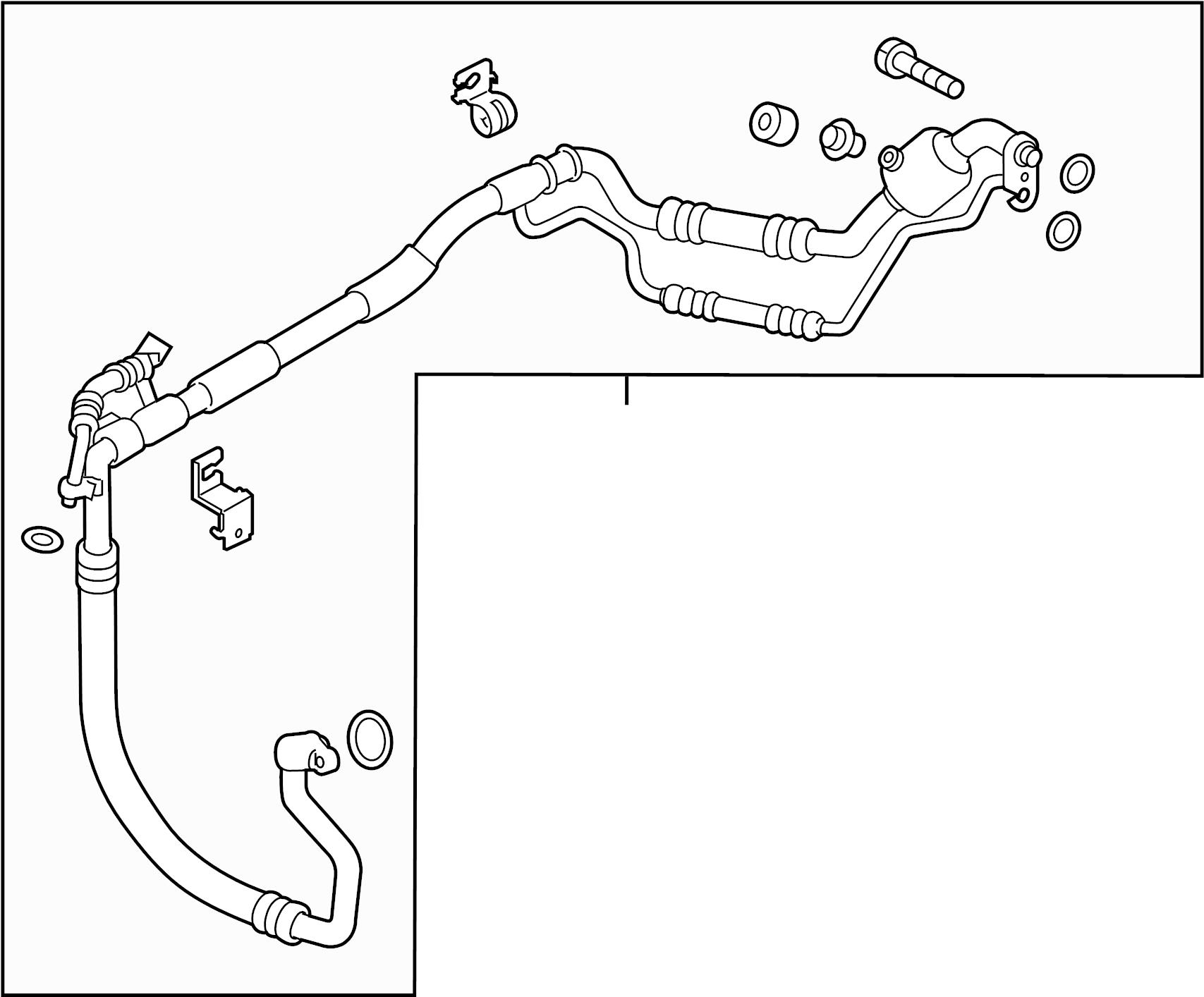 Kia Forte A/c refrigerant suction hose. Liquid, assembly