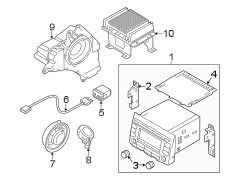 Kia Sportage Extension amplifier assembly. Radio amplifier