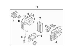 Kia Sorento Air conditioning (a/c) evaporator drain. Drain