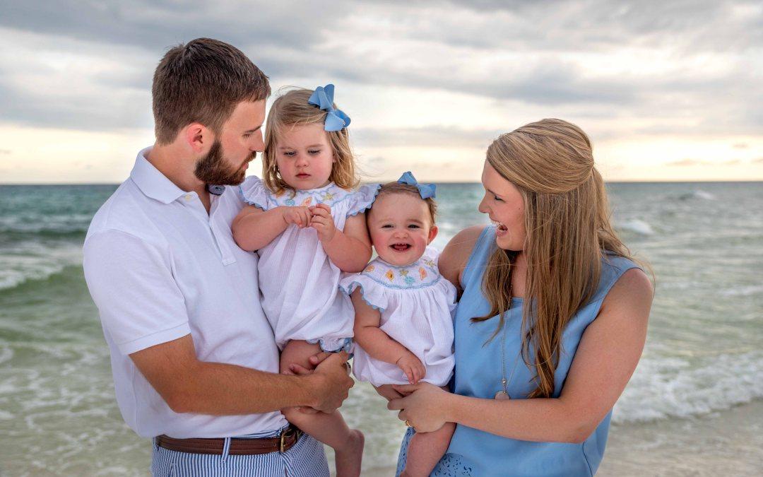family portrait on Okaloosa Island