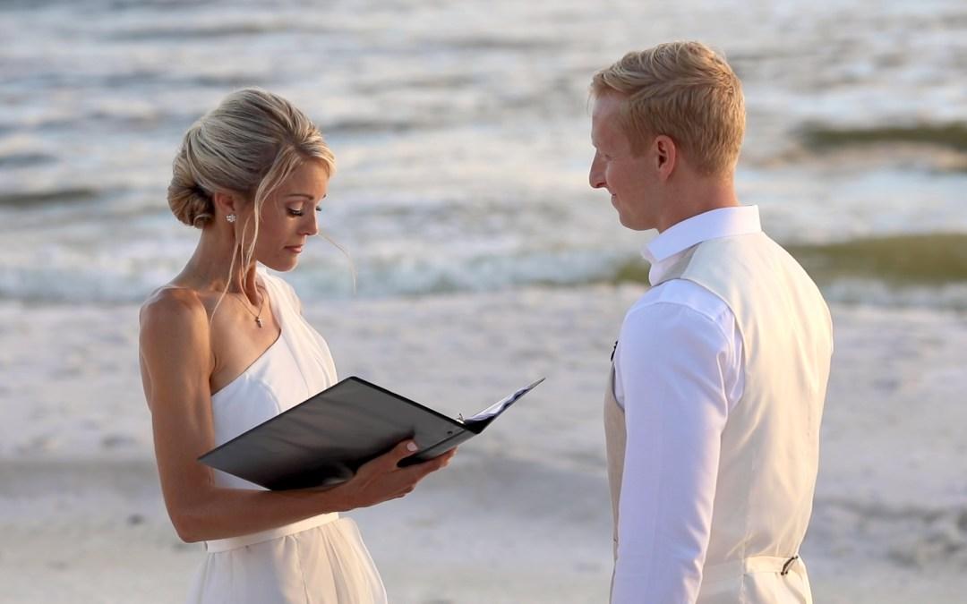 wedding ceremony on the beach in Santa Rosa Florida