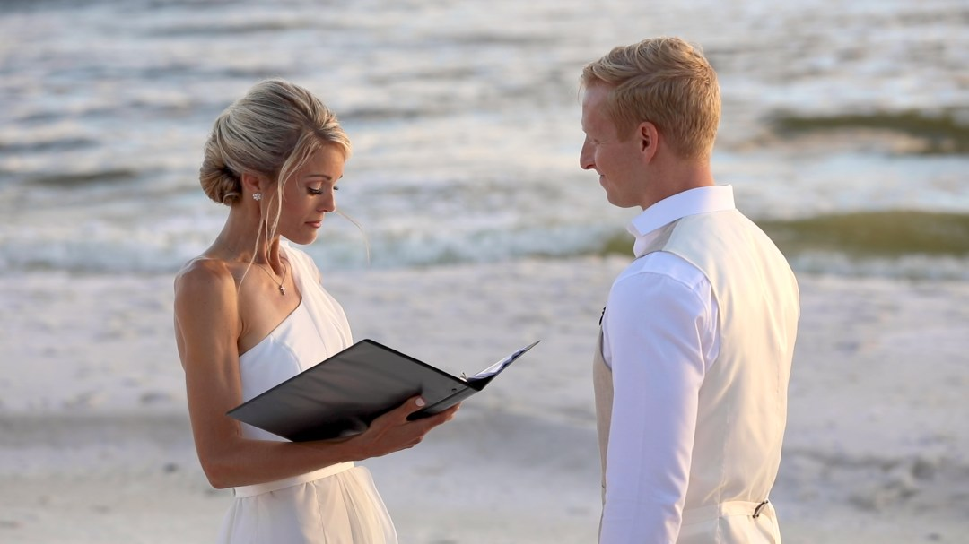 wedding ceremony on the beach in Santa Rosa Beach florida