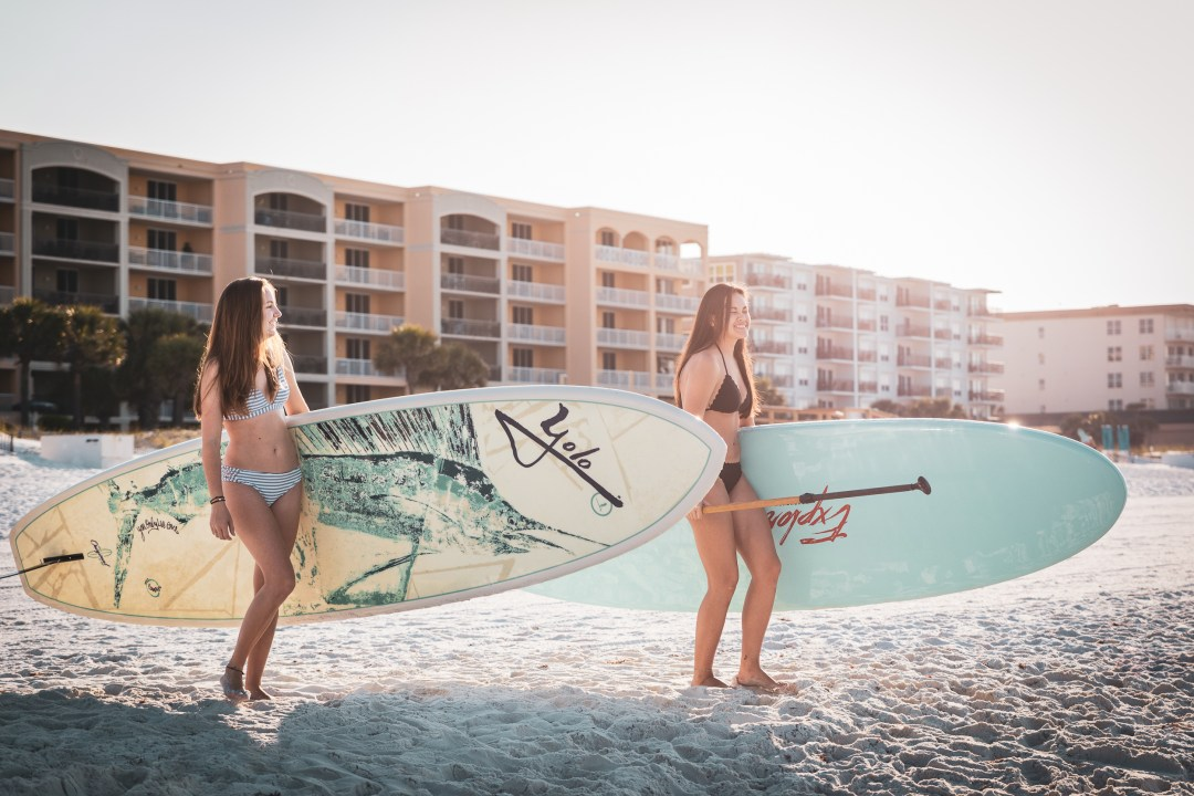 branding photography session for paddle board rental company
