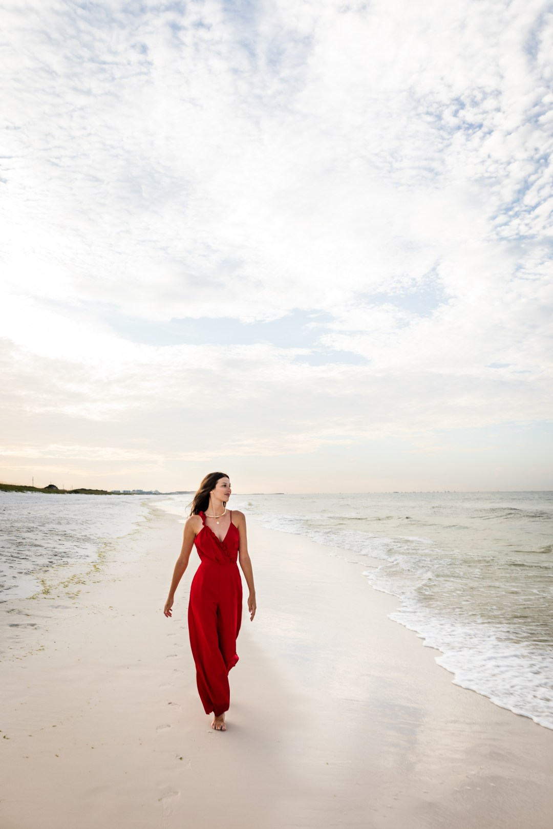 senior photos on the beach in Destin, Florida