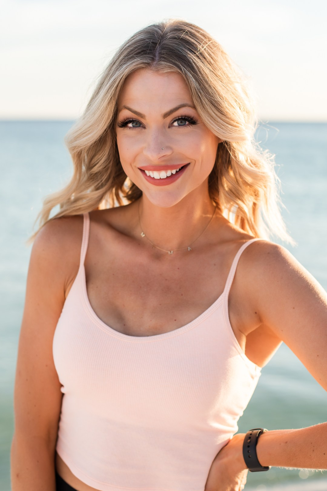 small business promotional video and photo session for beach body fitness program on the beach in Destin