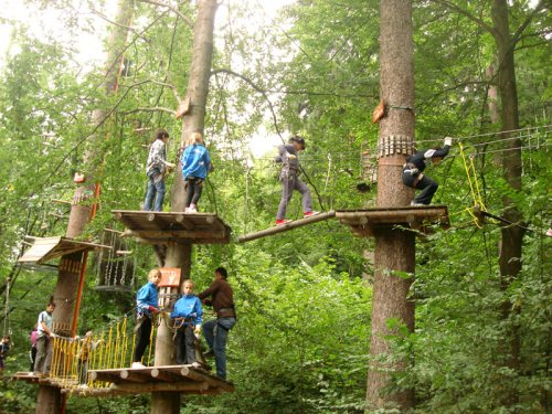 Transylvania with kids in summer adventure park