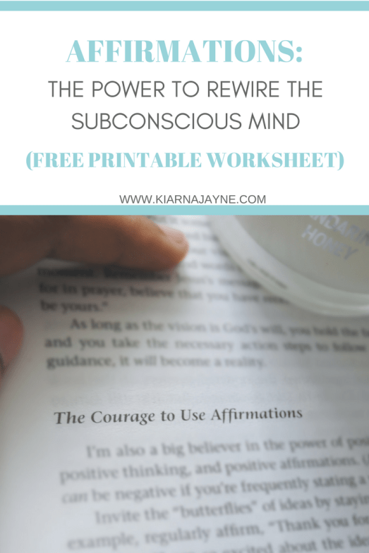Affirmations The Power To Rewire The Subconscious Mind