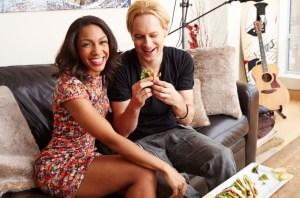 Stephanie with her boyfriend, Eric Schulte. (New York Post)