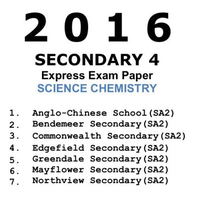 2016 Secondary 4 Express Combined Science Physics Exam
