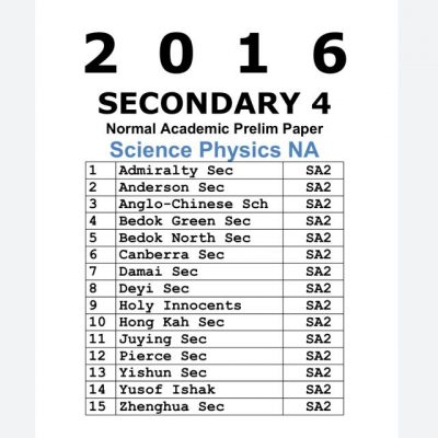 2017 Secondary 3 Science Physics NA (Normal Academic) Exam