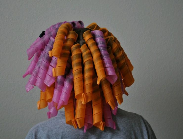curlformers in hair
