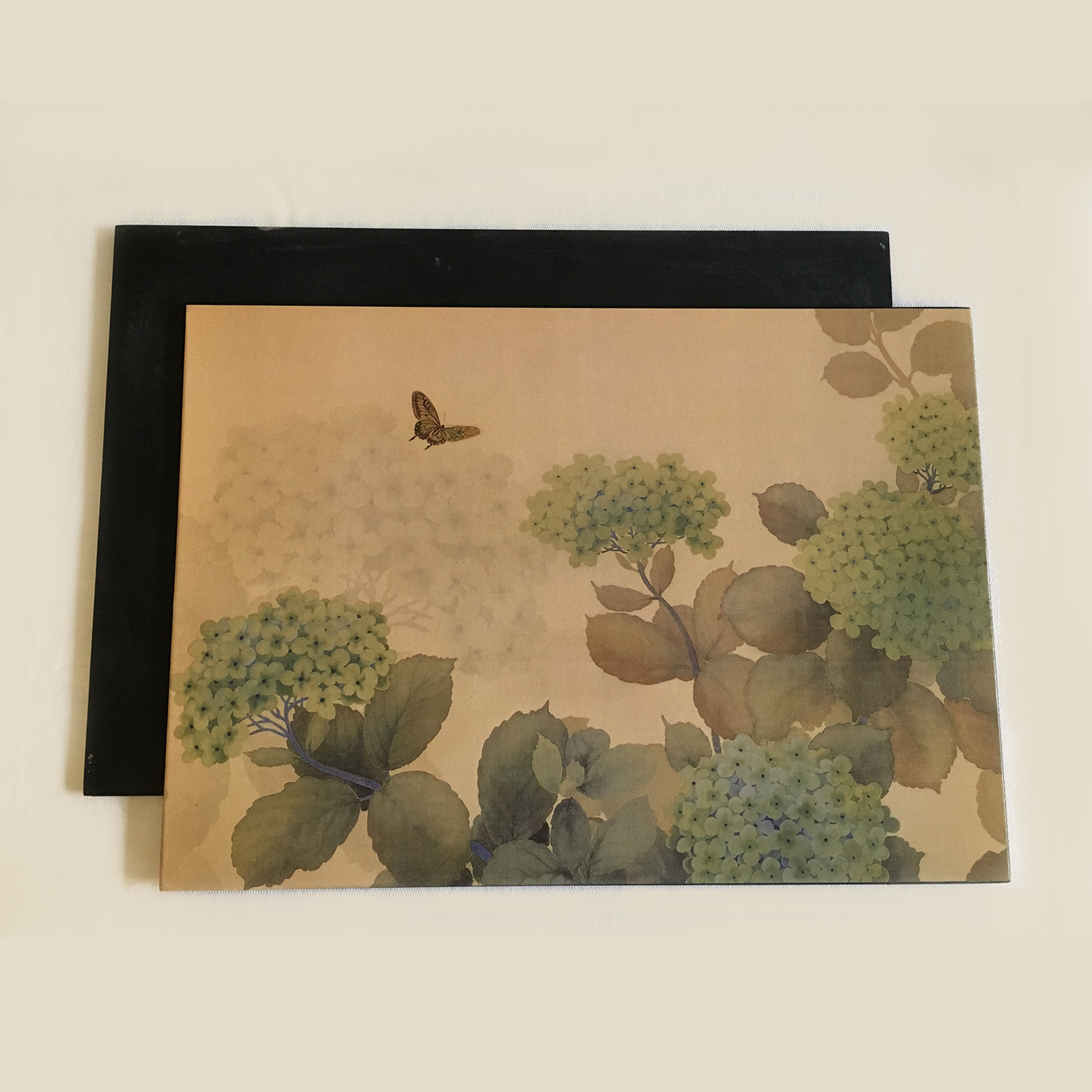 hydrangea placemats with napkin