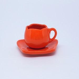 XÍCARA TULIPA DE CAFÉ COM PIRES (LISA) 80ml