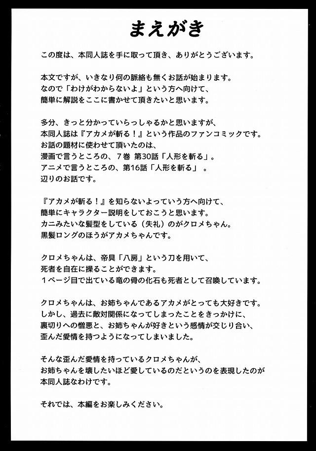 アカメが斬る エロマンガ・同人誌2004