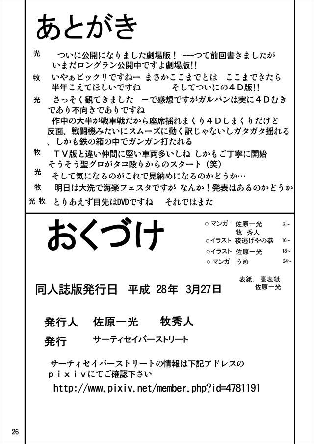 ガルパン エロマンガ・同人誌10026