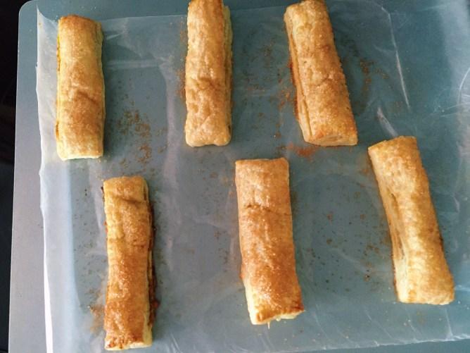 Puffy Pumpkin pastry sticks