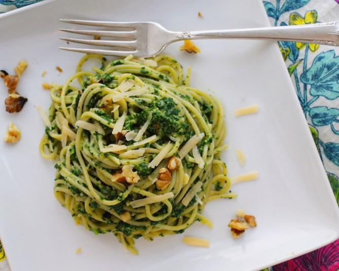 Bowl of Kale Pesto Pasta