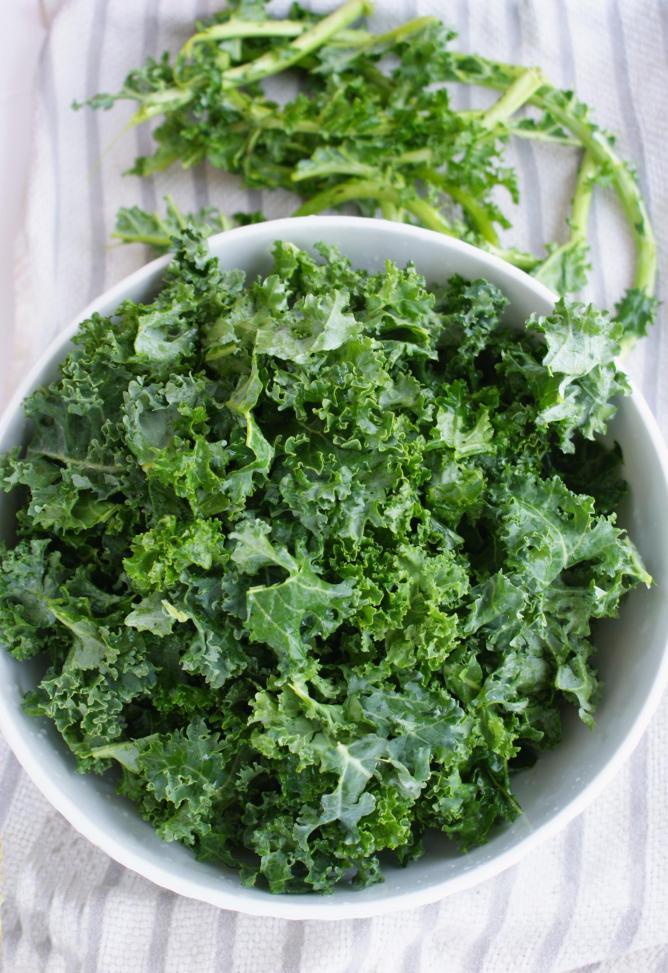Kale, de-stalked