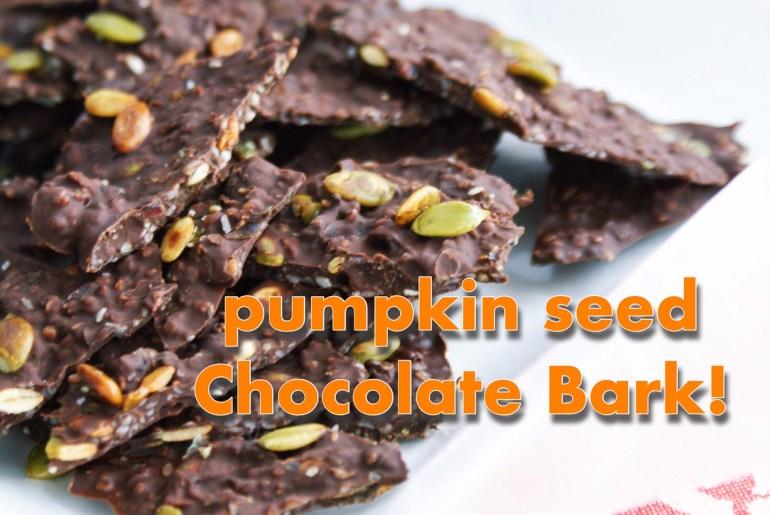 Pumpkin Seed Chocolate Bark