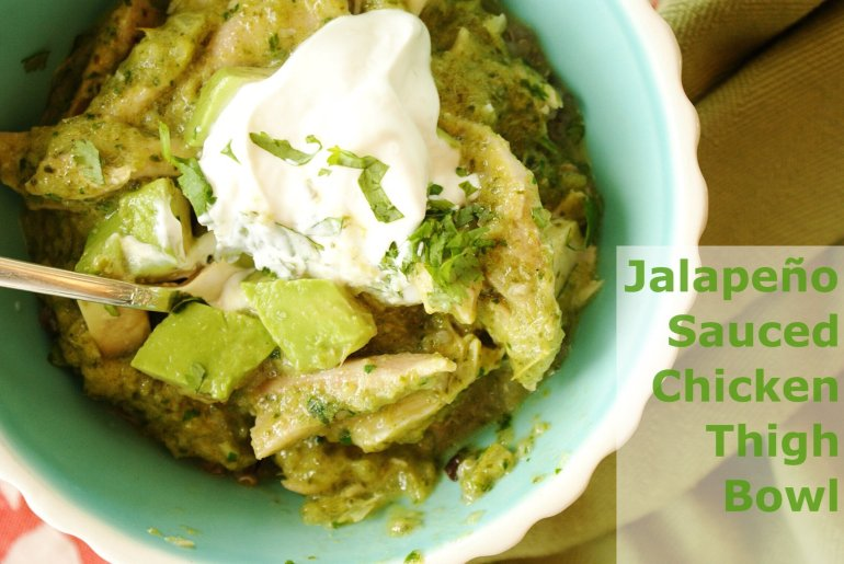Jalapeno Sauced Chicken Thigh Title