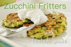 Zucchini Fritters with Tzatziki Sauce