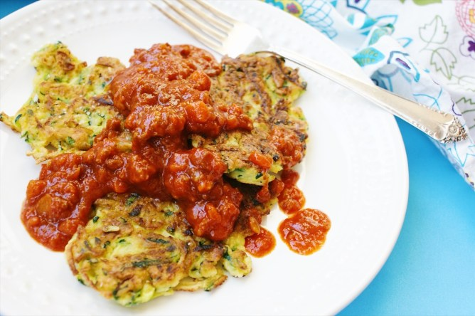 Zucchini Fritters with Ragu