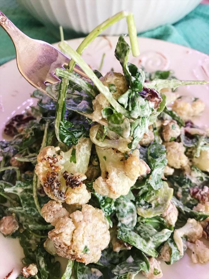 Roasted Cauliflower and Chickpea Salad