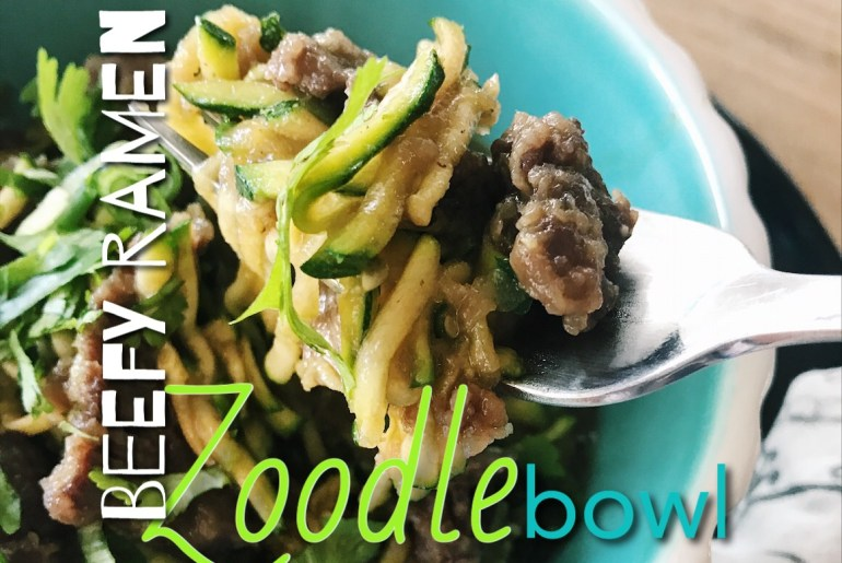 Beefy Ramen Zoodle Bowl