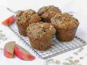 Paleo Apple Muffins | kickassbaker.com Made with gluten-free, dairy-free ingredients for a healthy, delicious breakfast or snack #paleo #apple #muffins #easyrecipes #glutenfree #dairyfree